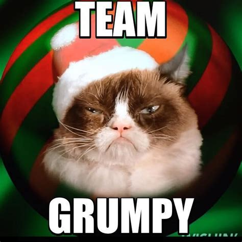 Grumpy Face Meme - team grumpy cat christmas edition grumpy cat know your meme