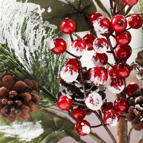 christmas floral picks and stems large snowy artificial pine picks and stems floral supplies craft supplies