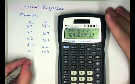 calculator regression elementary stat calculator ti30xiis linear regression mp4