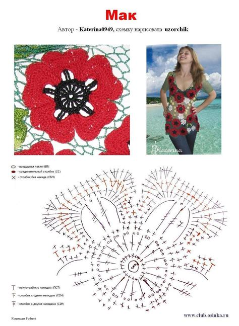 Poppy Tunik croche patterns gelincik motifli 246 rg 252 bluz