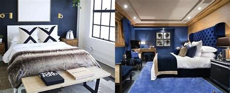 Navy Blue Bedroom Decorating Ideas by Top 50 Best Navy Blue Bedroom Design Ideas Calming Wall