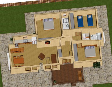 spacious 3 bedroom house plans spacious newly built 3 bedroom house with wooden design and original layout