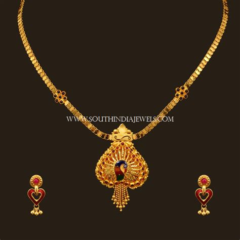 I Necklace gold necklace set designs with price south india