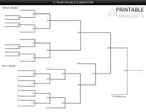 Elimination Tournament Bracket Template 12 team elimination bracket printable brackets