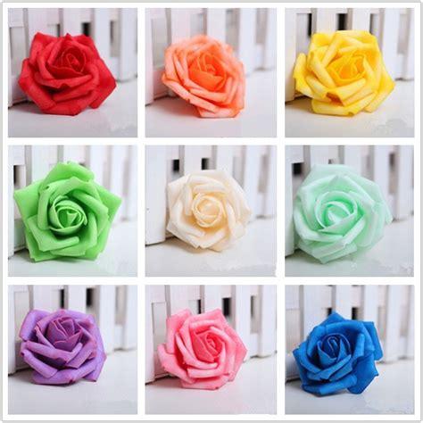 How To Make Handmade Roses - 100 pieces lot 7cm wedding decorative flowers handmade