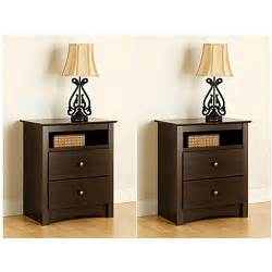 How Tall Should A Nightstand Be by Edenvale 2 Drawer Tall Espresso Nightstand With Open