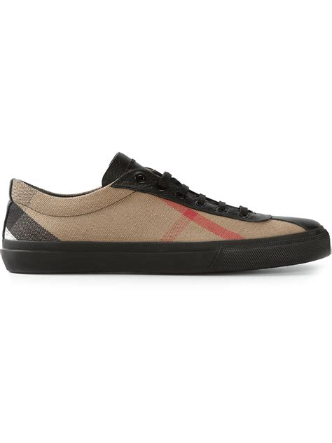 burberry sneakers burberry checked sneakers in brown for lyst