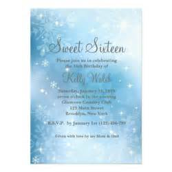 winter invitations templates personalized winter sweet 16 invitations