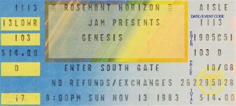 genesis tickets tour the genesis archive