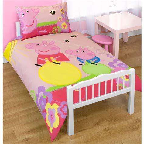 Peppa Pig Cot Bed Duvet Set Peppa Pig Adorable Junior Cot Bed Duvet Bundle 4 In 1 Ebay