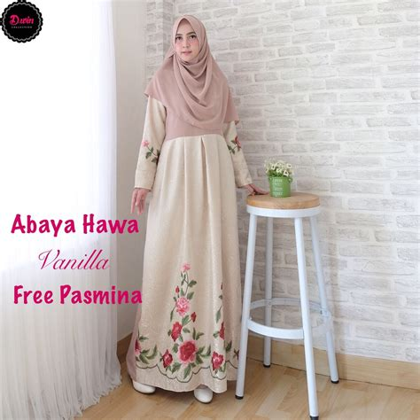 Gamis Syar I Shofiyah Hawa gamis modern abaya hawa size l baju muslim pesta butik