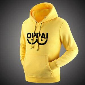 anime punch man saitama oppai hoodies yellow