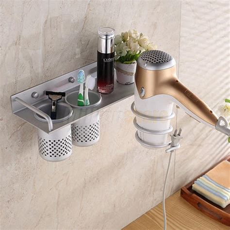 bathroom hair dryer storage hair dryer stand storage organizer rack holder hanger wall