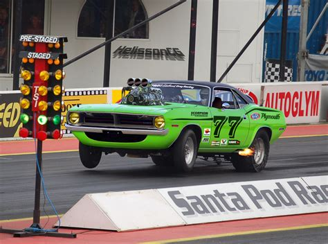 plymouth showtimes cuda drag race car by helissoncg on deviantart