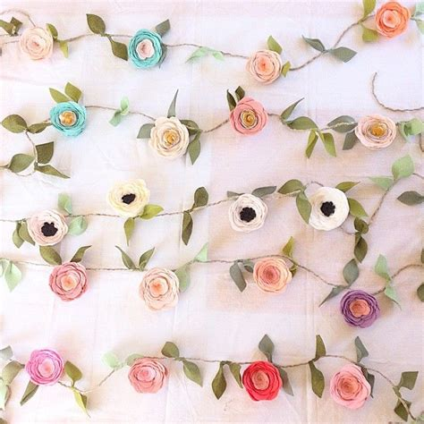 paper flower garland template fancy free finery felt flower garland 6 foot with