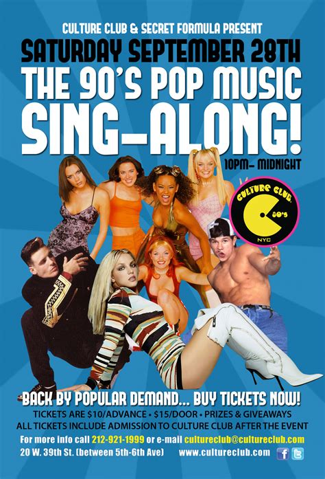 90s pop back by popular demand 90 s pop sing along