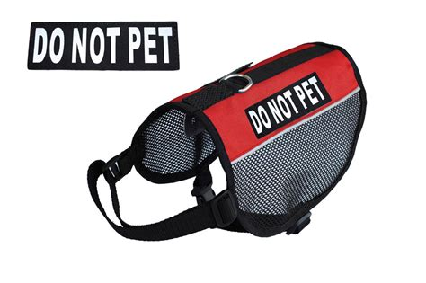 do not pet vest do not pet service vest harness small med large comes with 2 velcro patches ebay