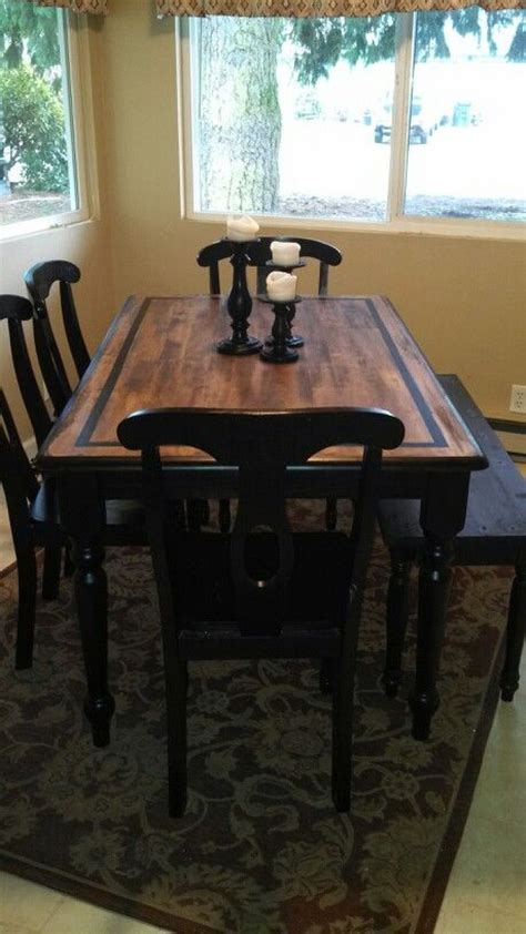 my country kitchen table redo