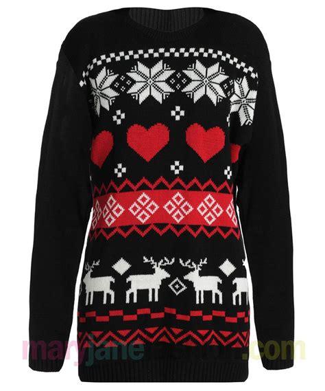 ebay xmas jumpers new ladies reindeer snowflake aztec heart xmas christmas
