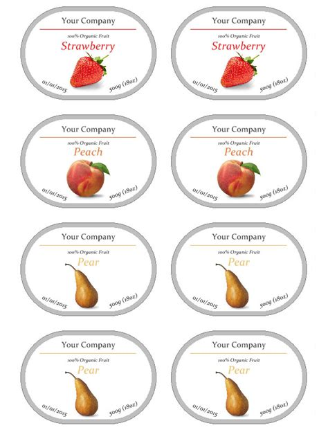 free printable jam label jam label template free
