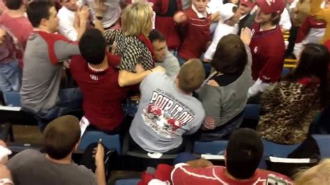how alabama fans watched bama fan goes crazy on ou student youtube