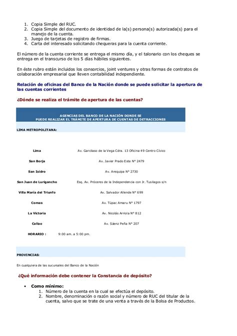 declaracion jurada de apertura de cuenta corriente sistema de detracciones del igv