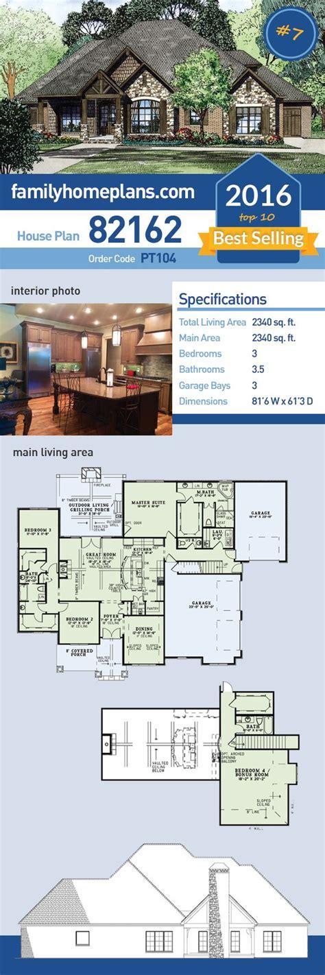 best selling floor plans craftsman european house plan 82162 craftsman house