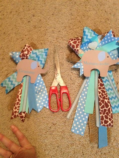 How To Make A Corsage For Baby Shower by Ribbon Corsages Baby Shower Boy Elephant Baby Boy