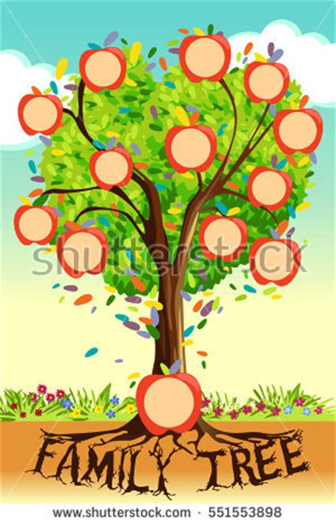 Ancestry Tree Stock Images Royalty Free Images Vectors Shutterstock Family Tree Template Vintage Vector Illustration Stock Vector 397284052