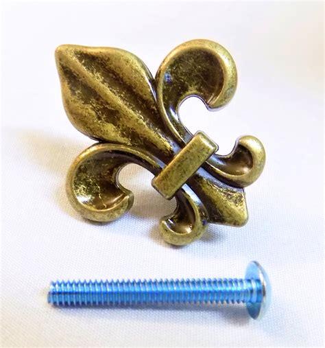 fleur de lis cabinet pulls fleur de lis drawer cabinet knob pull gold decor