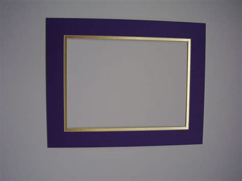 picture mats diploma size mats purple with shiny gold 11x14