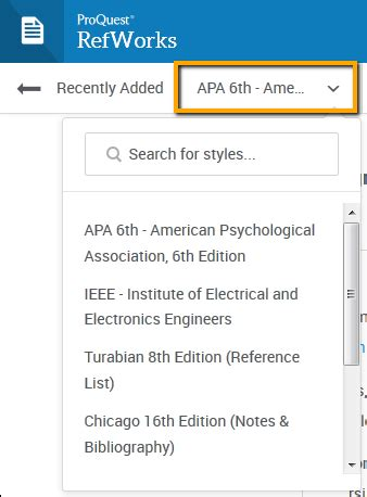 Creating A Bibliography by Using New Refworks Part 4 Creating Bibliographies Works