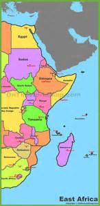 map of east map of east africa