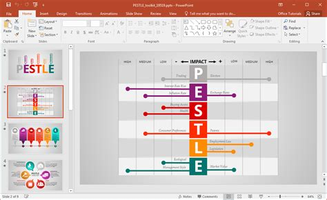 Animated Pestle Analysis Presentation Template For Powerpoint Slider Template Free