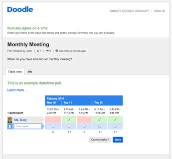 doodle poll pricing doodle reviews edshelf