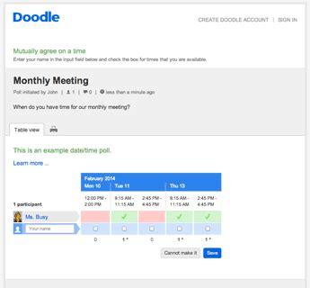 doodle schedule assistant doodle reviews edshelf