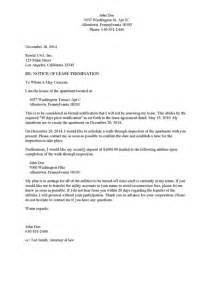 Termination Letter Apartment Sample Divorce Source Notice Of Lease Termination Apartment