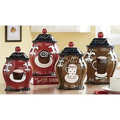 themed kitchen canisters 1000 ideas about coffee theme kitchen on cafe