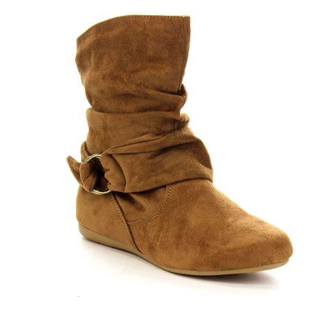 Flat Heeled Boots by Forever Ga43 Fashion Calf Flat Heel Side Zipper