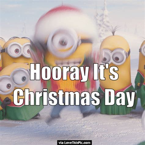 hooray  christmas day minion quote pictures   images  facebook tumblr