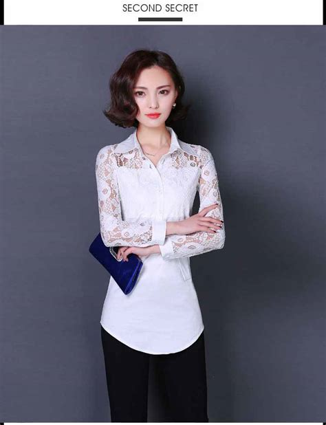 Kemeja Atasan Putih Korea baju atasan putih lengan panjang 2016 myrosefashion