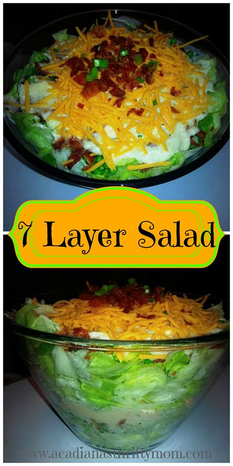 seven layer salad acadiana s thrifty mom