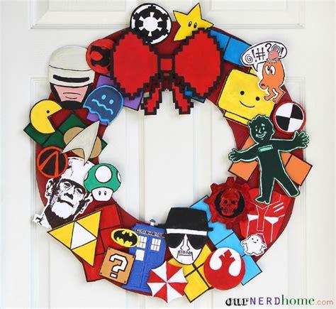 diy geeky decorations 15 delightfully geeky wreaths holidays