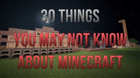 6 Things You May Not Know About Minecraft Vidoemo - 30 things you may not know about minecraft doovi