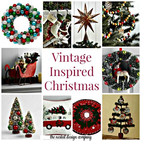 vintage inspired christmas decor the nested design company