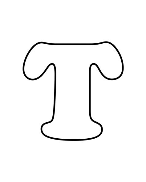 Free Block Letter T Coloring Pages T Coloring Pages