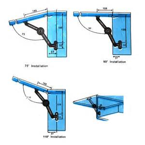 cupboard cabinet lid door soft lift up stay support