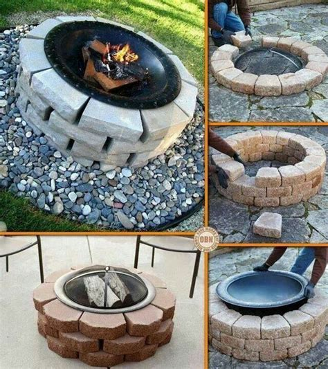 Can I Build A Fire Pit In My Backyard Make Your Own Fire Pit Ideas For The New House Pinterest