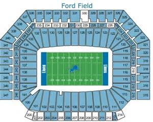 Ford Field Seat Map Detroit Lions Ticket Exchange