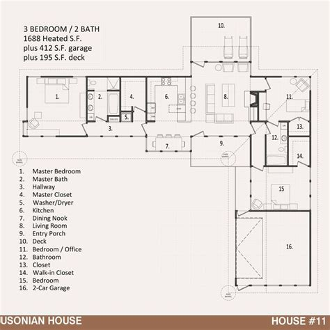 Usonian Floor Plans | usonian house plan shibori pinterest